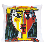 Cushion Head Of A Woman With Hat 1962