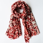 Red camouflage pattern scarf