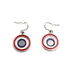 Tricolor Cockade Earrings