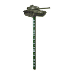 D-Day Wooden Pencil - Tank Figurine