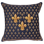 Cushion cover Three Lilies blue - Jules Pansu