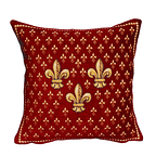 Cushion cover Three Lilies red - Jules Pansu