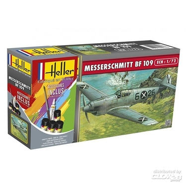 STARTER KIT Messerschmitt Bf 109 B1/C1 in 1:72