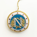 Christmas decoration - N of Napoleon (Navy)