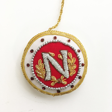 Christmas decoration - N of Napoleon (Red)