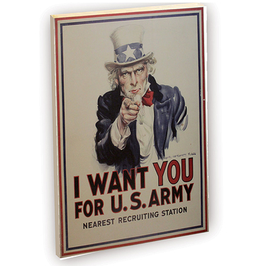 Carnet de notes, I want you for U.S. Army