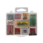 Mini magets postal stamps