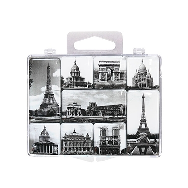 BLACK AND WHITE MINI MAGNETS Paris
