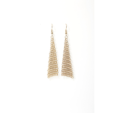 Collection B triangle golden earrings