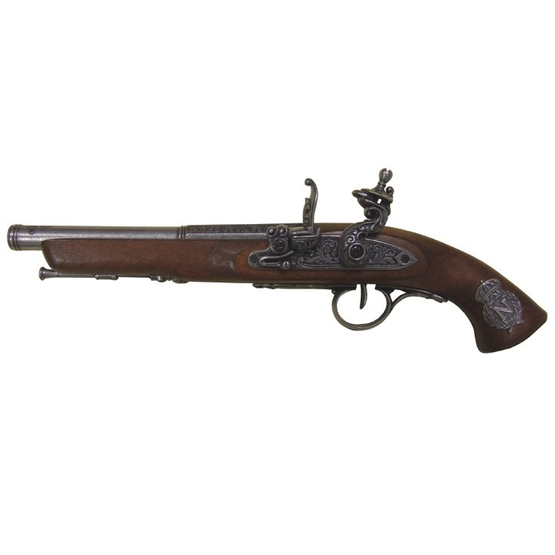 Pistolet silex napol on 39cm boutique du mus e de l for Pistolet de decoration